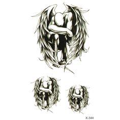 Encre Couleur Anges Déchus Étanche Temporaire Tatouage Autocollants Mignon Ailes Conception Corps Art Make Up Outils Homme Femme Produits de Sexe