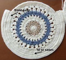 Free crochet pattern round shoulder bag usa