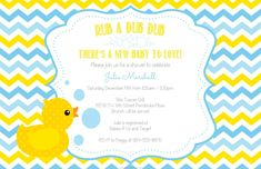 Free printable customizable duck baby shower invitation clips the rubber duck baby shower invitations modern designs filmwisefo