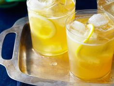 Honey Punch recipe from Food Network Kitchen via Food Network Summer Drink Recipes, Sangria Recipes, Punch Recipes, Summer Cocktails, Cocktail Recipes, Easy Cocktails, Fun Drinks, Thanksgiving Cocktails, Thanksgiving Recipes