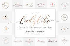 Ladylike Premade Branding Logo Pack by SNIPESCIENTIST on @creativemarket