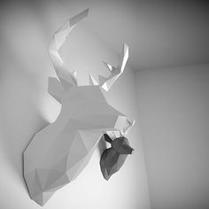 XL Deer Trophäe - Weiß - alt_image_two