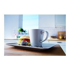 IKEA - DINERA, Mug, With its simple shapes, muted colours and matt glaze, the dinnerware gives a rustic feel to your table setting.