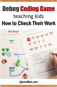 Coding for Kids: Printable Computer coding game teaching kids debug, finding and fixing program errors, easy off-screen coding activity for problem solving skills and how to check their work. Great way to learn programming unplugged. Fun STEM activities for Hour of Code. #iGameMomSTEM #STEMforKids #CodingForKids #ComputersAreAwesome