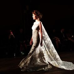 AMAZING detail at @clairepettibone tonight! This caped stunner was definitely one of my faves! #nybfw #clairepettibone