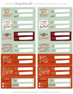 Printables - free christmas tags // imprimibles - etiquetas navidad gratis