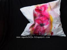 agadzieje: Abstrakcyjne maki ( malowanie na tkaninie )