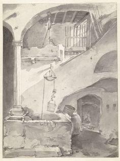 Thomas Wijck | Italiaanse binnenplaats met een waterput, Thomas Wijck, 1626 - 1677 |