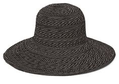 Wallaroo Womens Scrunchie Sun Hat Lightweight and Packable Sun Hat UPF 50 Black With White Dots ** You can find more details by visiting the image link. Sun Protection Hat, Travel Wear, Love Shirt, Sun Hats, Scrunchies, Ultra Violet, Summer Outfits, Summer Clothing, Image Link