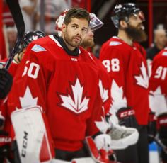 Corey Crawford - Team Canada (born in Montreal, QC), 2016 World Cup of Hockey (pre-tournament) Blackhawks Players, Chicago Blackhawks, Hockey Teams, Hockey Players, Corey Crawford, Hockey World Cup, Stanley Cup Champions, Southern Girls, Celebrity Crush