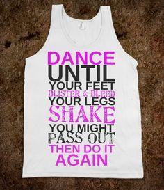 Dance Dance from Glamfoxx Shirts