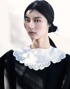 Park Ji Hye by Emma Tempest for Vogue Russia, July 2013 styled by Camilla Pole