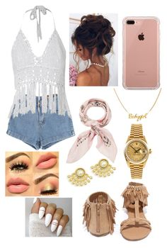 """""""Coachella 2017"""" by onnajanell ❤ liked on Polyvore featuring Chicnova Fashion, Qupid, Rolex, Belkin and Manipuri"""