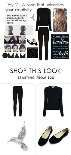 """Day 2 - Wolves Without Teeth"" by ballerinahippie ❤ liked on Polyvore featuring Paige Denim and Barrie"