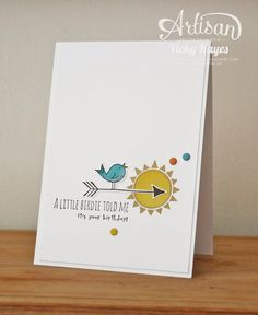 The images in the Hello Love set from Stampin' Up are great for male cards - AND you can get it for free!