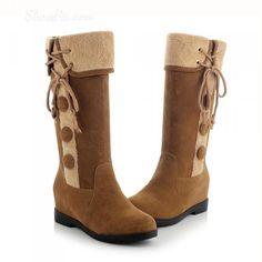 cool Shoespie  Nubuck Buttons Snow Boots