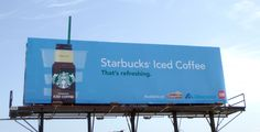 A little extra goes a long way! Check out Starbucks' new OOH ad.