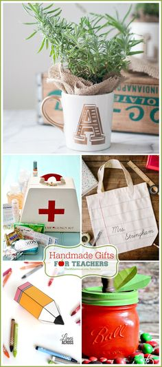 Handmade Gifts for Teachers - The AVENUE - Handmade Gifts are my favorites and today I'm sharing some Teacher Appreciation Gifts that we hav - Gifts For Family, Gifts For Kids, Craft Gifts, Diy Gifts, Handmade Teacher Gifts, Holiday Gifts, Christmas Gifts, Christmas Ideas, Holiday Decor