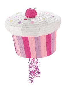 Piñata cupcake: Esta piñata tiene forma de cupcake.Mide alrededor de 22x27 cm. Tiene flecos y una apertura para poder rellenarla.Utiliza un palo de piñata para abrirla (no incluido).Con...