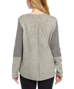 Look at this Katie Todd Gray Pointelle Hi-Low Sweater - Women on #zulily today!