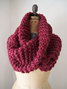 Extra large knit cowl. Love this color <3