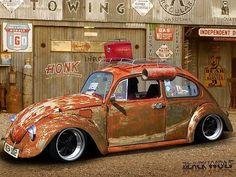 Dirty car Volkswagen Beetl by The-king-of-chaos Vw Bus, Vw Camper, Car Volkswagen, Vw Rat Rod, Rat Rods, Kdf Wagen, Classic Motors, Buggy, Porsche Design