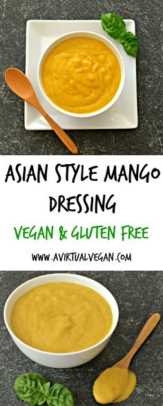 This vibrant & versatile Asian Style Mango Dressing is creamy, fruity & delicious. It comes together in minutes & is insanely delicious! Mango Dressing, Asian Dressing, Real Food Recipes, Vegetarian Recipes, Healthy Recipes, Free Recipes, Delicious Recipes, Salsa Dulce, Mango Salad