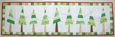 Festive Christmas Tree Table Runner PDF Pattern by tiedwitharibbon