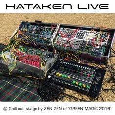 """Hataken - Modular synthesizer Live at Chillout stage by ZEN ZEN @ """"Green Magic"""" AM8-10  May 4th 2016"""