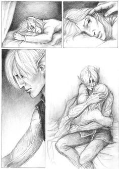 Fenris comforting Hawke after Leandra's death. ~Mourning yuhime on deviantART -