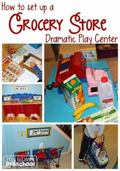 "This month, our preschoolers enjoyed being customers at our ""Shop Smart"" grocery store in the dramatic play center.  I blogged about this center last year, so this year I thought I would put together a 6 step ""How To"" guide for setting up your own grocery store. In my opinion, the grocery store (as well... Read More »"