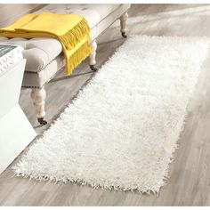 safavieh handtufted shag offwhite offwhite polyester rug x overstock shopping great deals on safavieh runner rugs