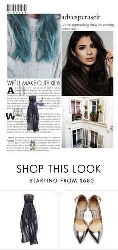 """""""Set #4949"""" by miky94 ❤ liked on Polyvore featuring Worth, simplehuman, Vionnet, Jimmy Choo, Chanel and Fleur du Mal"""