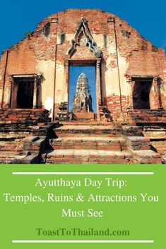 Best Things to do in Ayutthaya: Temples, Ruins & Attractions You Must See including Entry Fee, Timings & Contact Details. How to travel from Bangkok to Ayutthaya? Thailand Travel Guide, Visit Thailand, Bangkok Thailand, Asia Travel, Railay Beach, Elephant Sanctuary, Chiang Mai, Day Trip, Southeast Asia