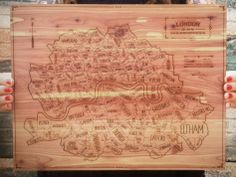 Wooden Maps from Neighborwoods