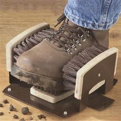 Boot Brush, Fernando needs for his dirty workboots!