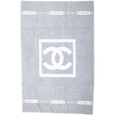 Pre-owned Chanel Beach Towel ($425) ❤ liked on Polyvore featuring home, bed & bath, bath, beach towels, grey and chanel