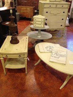 Shabby Chic furniture done by Anna Berry Design at The City Farmhouse.