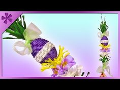 DIY Easter palm decoration with Easter egg and crepe paper crocuses (ENG Subtitles) - Speed up Palm Sunday, Crepe Paper, Quilling, Easter Eggs, Paper Crafts, Make It Yourself, Decor, Palmas, Funny Good Morning Sayings