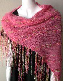 Knit shawl in Crystal Palace Yarns Kid Merino