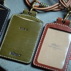 Handmade leather ID card holder and leather lanyard with name stamping service by @vitme  Thank you for your support. #Vitmehandcraft #Handmade