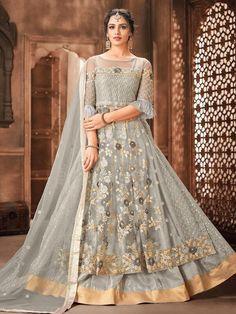 Top 5 Style Of Lehenga Suit For Any Occasion - Inddus.com Costumes Anarkali, Anarkali Dress, Anarkali Suits, Lehenga Suit, Lehenga Style, Lehenga Choli, Net Lehenga, Silk Dupatta, Churidar