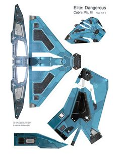 Elite: Dangerous Cobra Mk. III Papercraft - Album on Imgur