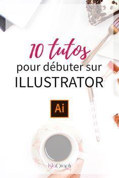 Je te propose une sélection de 10 tutos vidéos Illustrator (7 gratuits et 3 payants).