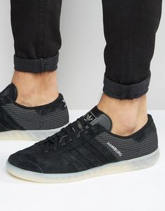 best loved c8cb5 89578 adidas Hamburg Tech Sneakers In Black S79993 Asos Online Shopping, Online  Shopping Clothes, Adidas