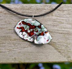 Handmade enamel and copper organic pendant by MatthewGaleArt, £22.00