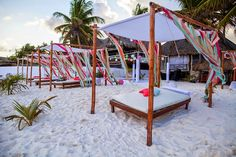 Colorful Beach Wedding in Tulum - Belle the Magazine . The Wedding Blog For The Sophisticated Bride