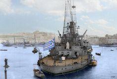 Battleship Kilkis (in Malta, probably 1920s) border=