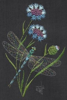 Wonderful Ribbon Embroidery Flowers by Hand Ideas. Enchanting Ribbon Embroidery Flowers by Hand Ideas. Embroidery Designs, Crewel Embroidery Kits, Learn Embroidery, Embroidery Needles, Silk Ribbon Embroidery, Hand Embroidery Patterns, Cross Stitch Embroidery, Machine Embroidery, Flower Embroidery
