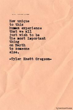 Typewriter Series #444by Tyler Knott Gregson